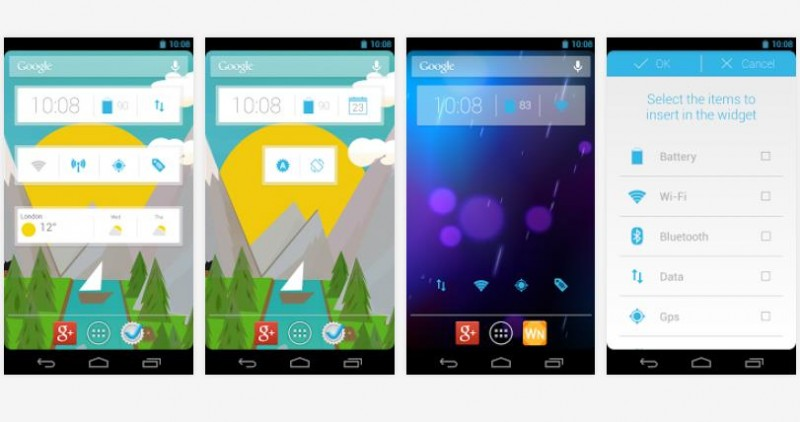 widgets para android clock now