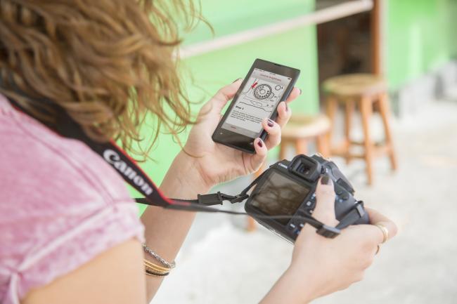 Canon EOS 1200D con aplicación