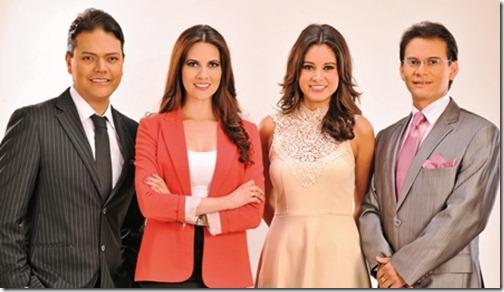 Comunicadores. Asbel Valenzuela, Claudia Fernández, Karen Canales y Yery Guiteras, serán la 'cara visible' de Notivisión Domingo, a partir de este fin de semana.