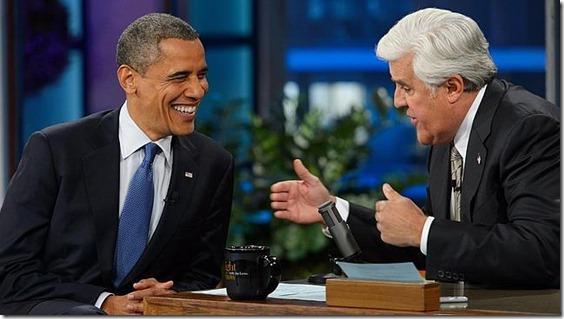 Leno fue el primero en llevar a Obama a la televisión tras ganar las elecciones
