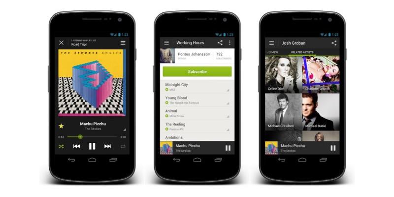 sincronizar musica en android spotify