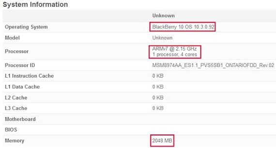 blackberry ontario benchmark BlackBerry presentará un smartphone de gama alta en el Mobile World Congress