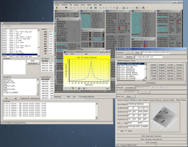 MIDAS Rosetta satélite interfaz terminal ESA