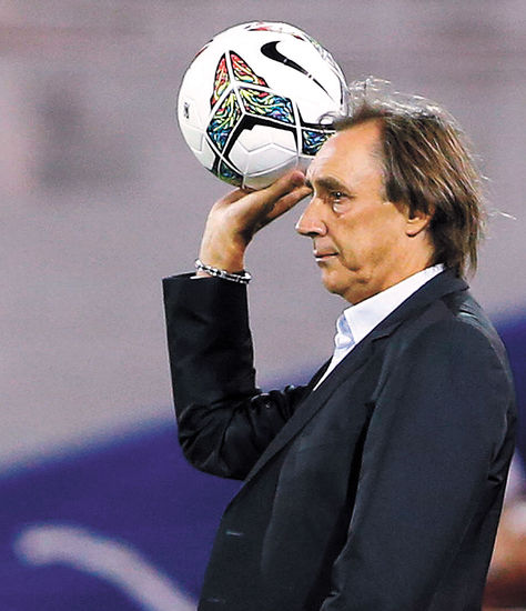 Portugal. El entrenador español del Atlético Paranaense brasileño. Foto: EFE