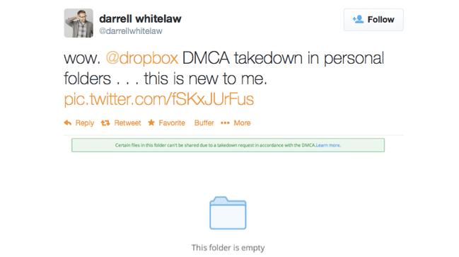 Dropbox DMCA