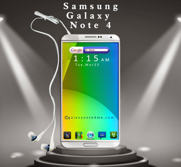 Diseño conceptual del Samsung Galaxy Note 4
