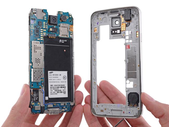 Carcasa del Samsung Galaxy S5