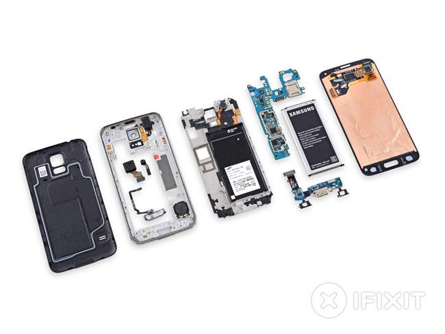 Componentes del Samsung Galaxy S5