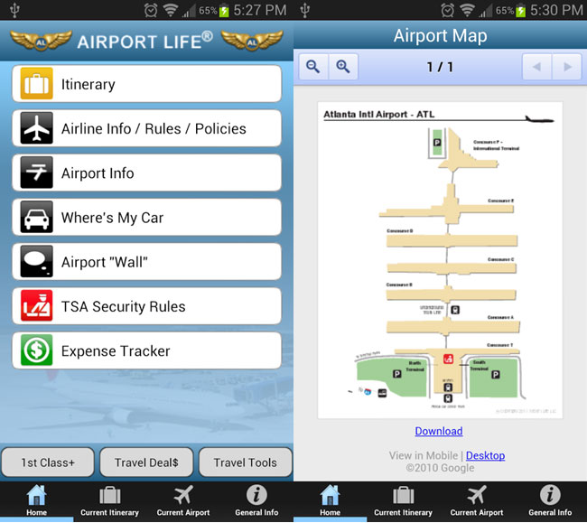 AirportLife, captura de pantalla