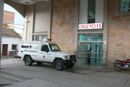 INTERNADA. La paciente se encuentra con diagnóstico reservado en Terapia Intensiva.del Hospital Santa Bárbara.