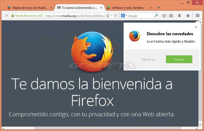 Firefox 29 con Australis
