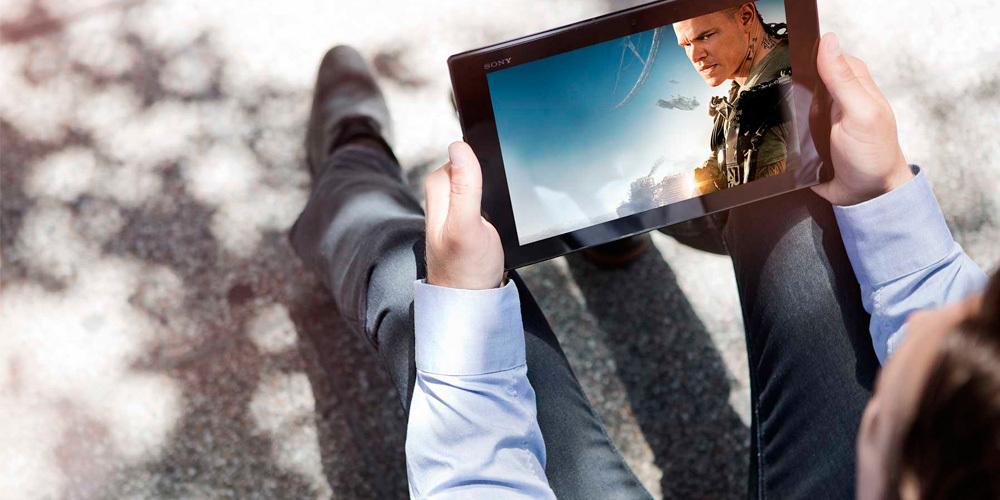 Película en tablet