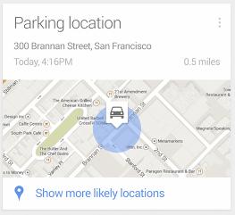 Google Now te recordará a partir de ahora dónde aparcaste