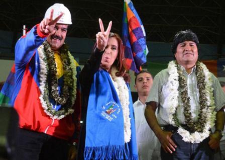 Evo-condena--agresion-externa--contra-Gobiernos-de-Venezuela-y-Argentina-