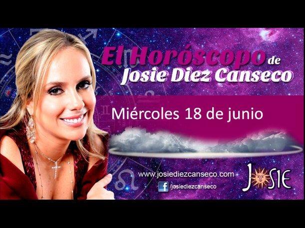 Josie Diez Canseco: Horóscopo del miércoles 18 de junio (VIDEO)