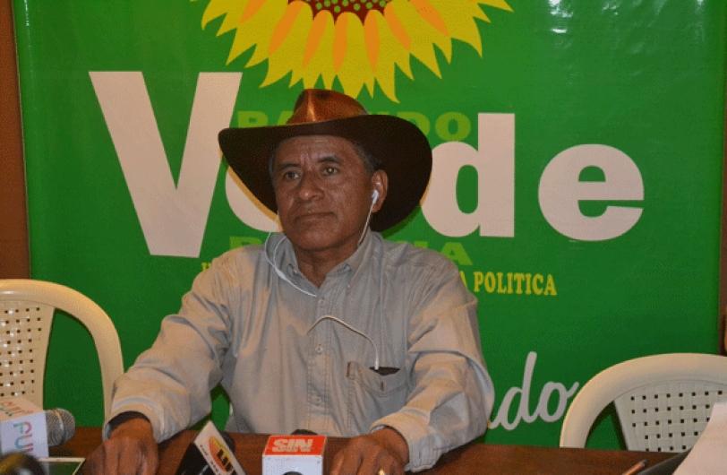 El candidato presidencial del Partido Verde de Bolivia y líder de los indígenas del Tipnis, Fernando Vargas.