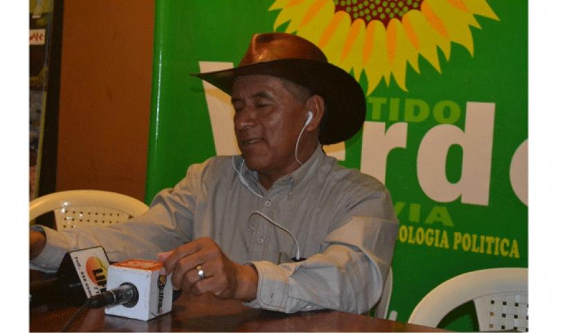 El candidato a la Presidencia de Bolivia, Fernando Vargas, cuando habló de retar al presidente Morales a un debate.