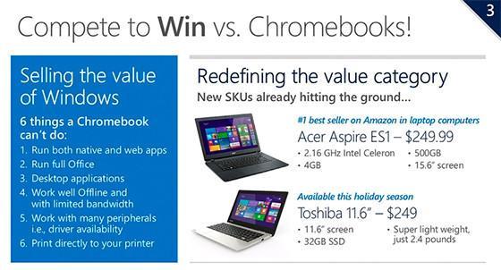 Windows vs Chromebooks