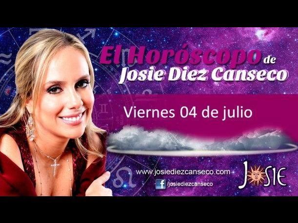 Josie Diez Canseco: Horóscopo del viernes 04 de julio (VIDEO)