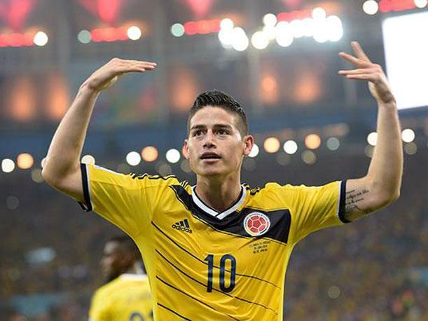 James Rodríguez goleador del Mundial Brasil 2014