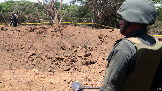 Cráter de un supuesto meteorito en Managua