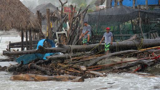 Fuertes lluvias en Acapulco