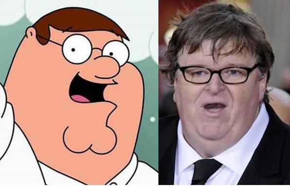 Peter Griffin vs. Michael Moore