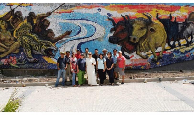 Habrá serenata y entrega  del mural de El Arenal