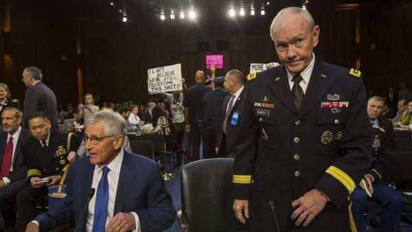 Consejo. El general Dempsey, ayer, al prestar declaración en el Senado.