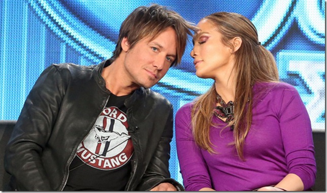 Keith Urban y Jennifer López en American Idol