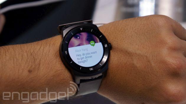 Un vistazo de cerca al nuevo LG G Watch R