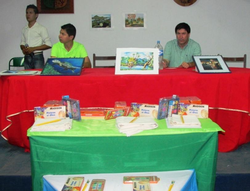Concurso pintura en Warnes recibe apoyo de la Gobernación