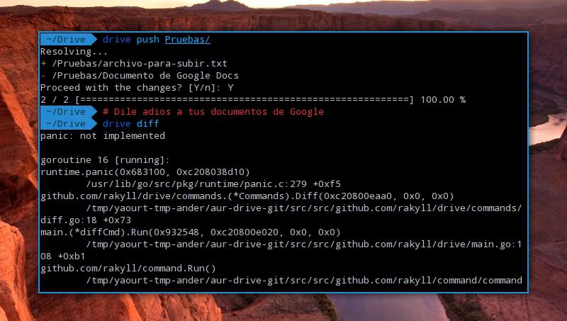 cliente de Drive para Linux