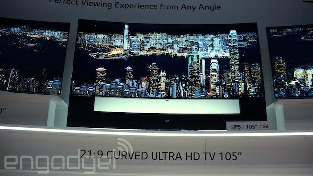 El televisor curvo 5K de LG costará 90.000 euros