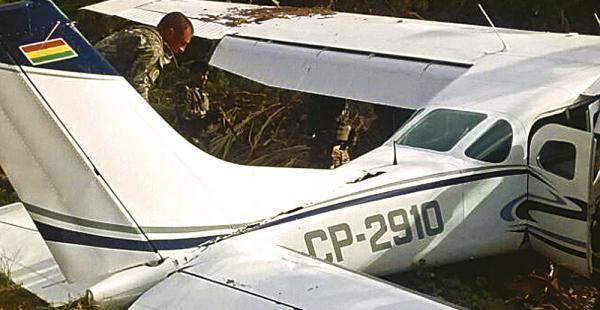 Esta avioneta con matrícula boliviana fue destruida el domingo en Perú