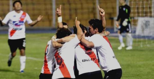 Los jugadores de Nacional Potosí celebran su primer triunfo en lo que va del campeonato Clausura