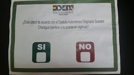 """Concejal de MDS anuncia que hará campaña por el """"no"""" en Charagua"""