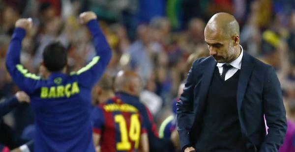 Guardiola volvió a dirigir en el Camp Nou. Esta vez lo hizo ante el Bayern