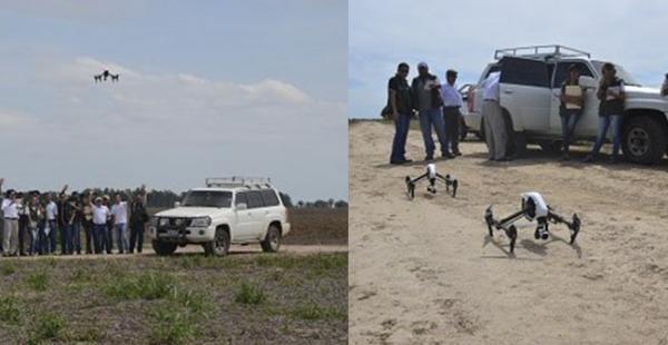 El Ministerio de Desarrollo Rural ha probado el dron en la propiedad Okinawa II