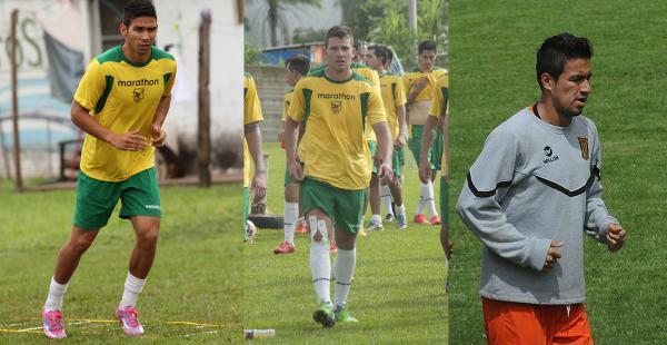 Diego Bejarano, Abraham Cabrera y Rodrigo Ramallo