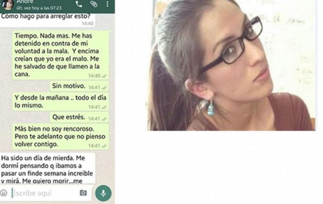 Mensajes de Whatsapp y testigos señalan que Andrea estaba obsesionada con Kushner y que lo acosaba