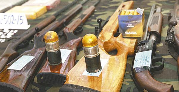 Armas que se incautó la Felcn