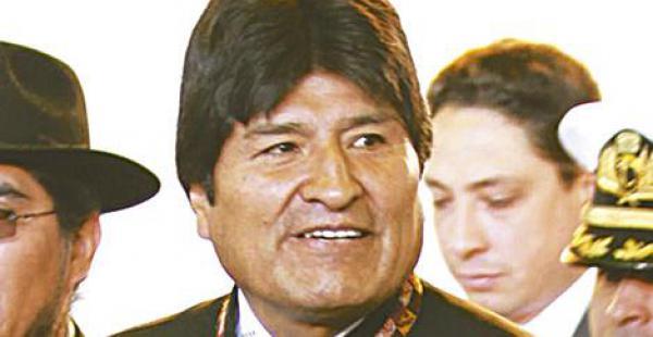 El presidente Morales dijo que es esclavo del pueblo boliviano