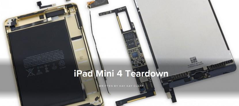 ipad mini 4 830x370 El iPad mini 4 en manos de iFixit
