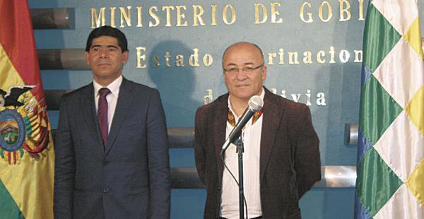 En enero, Hugo Moldiz relevó en el Ministerio de Gobierno a Jorge Pérez, que pasó al viceministerio