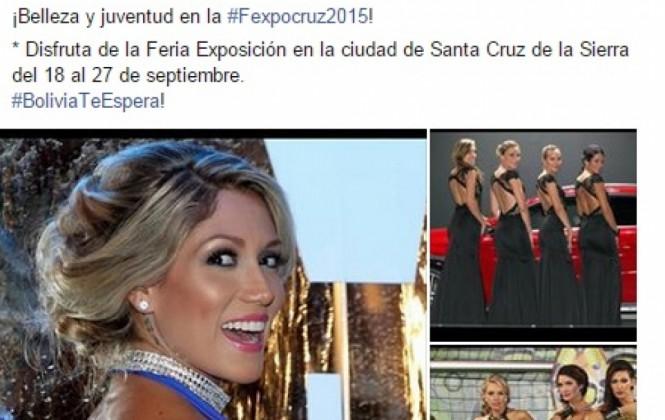 Critican al Viceministerio de Culturas por ofrecer como producto turístico a las azafatas de la Fexpocruz