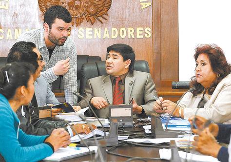 Legislativo. La Comisión Mixta de Constitución que aprobó la norma en primera en instancia el 22.