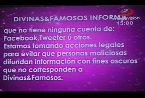 Este fue el anuncio que dieron en el programa de TV 'Divinas y Famosos'