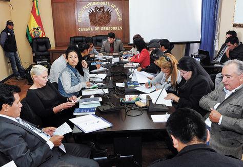 Sesión. La Comisión Mixta de Constitución cuando trabajó en la modificación del artículo 168 de la CPE.