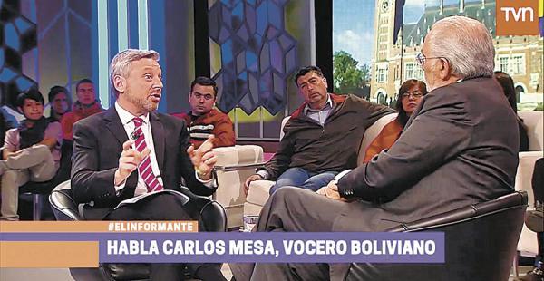 El debate Astorga versus Mesa tuvo repercusión en ambas naciones. TV Chile lo reprisó ayer en la tarde
